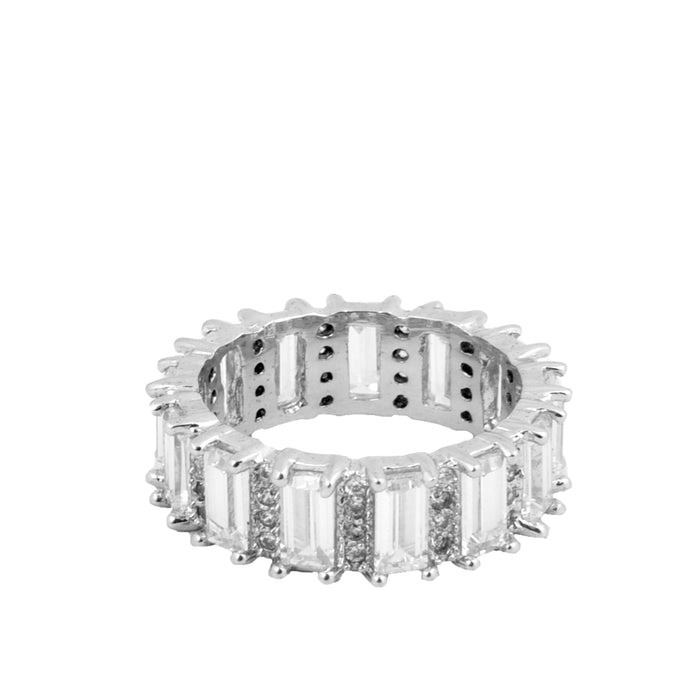 White American Diamond Ring Front View