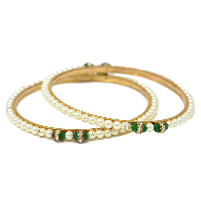 Moti Bangle Pair semi Stacked