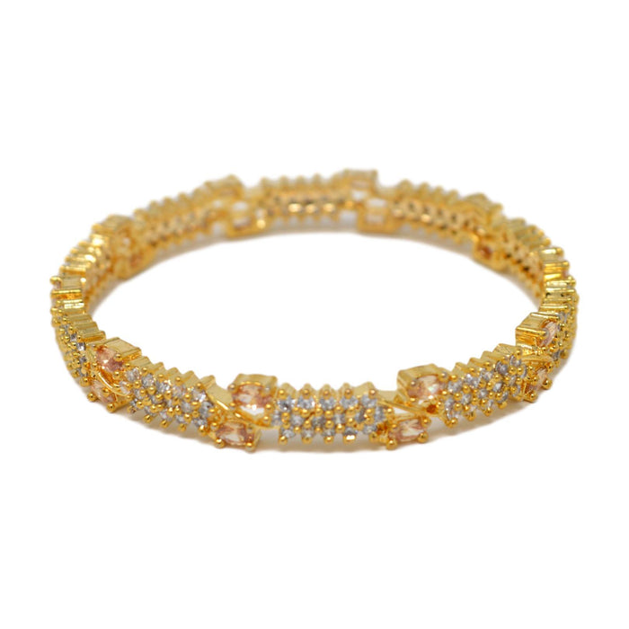 Yellow Stone Bangle Pair single