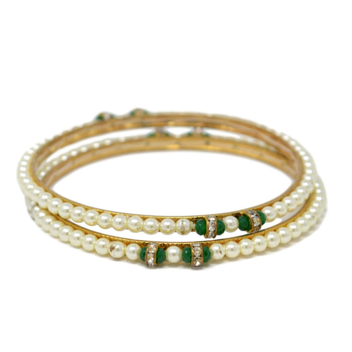 Moti Bangle Pair set Stacked