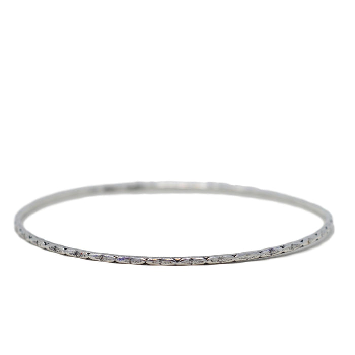 Oxidised Thin Bangle Set Single