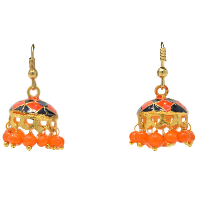 Orange & Black Jhumki