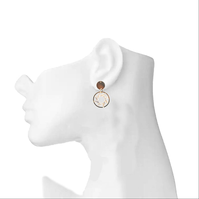 Modern Ring American Diamond Earring On Ear