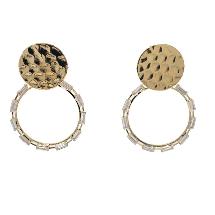 Modern American Diamond Earrings Front View
