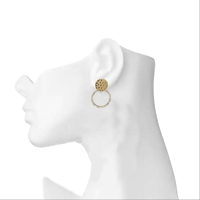 Modern American Diamond Earrings On Ear