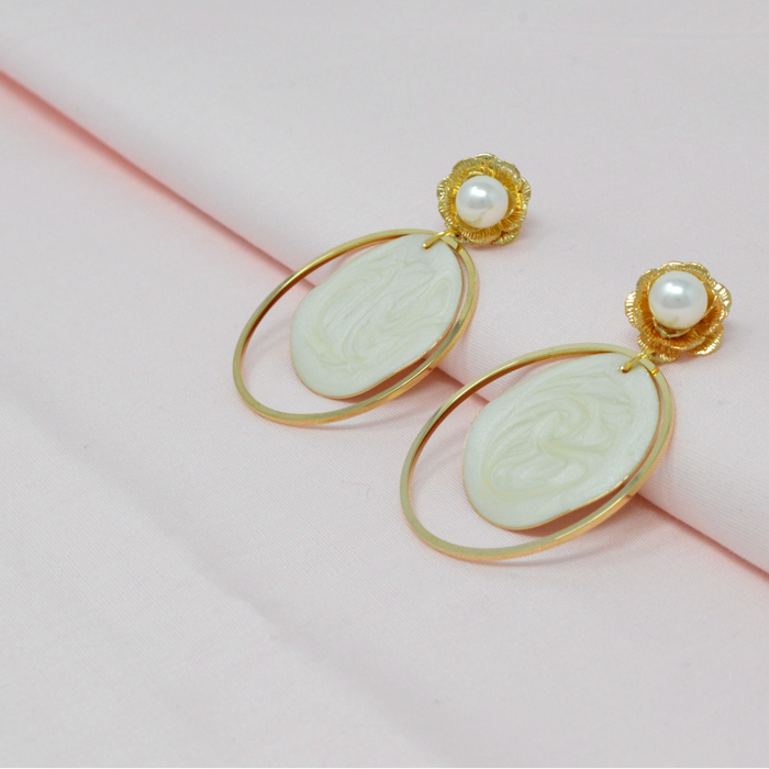 Golden Moti Circle Earring Color