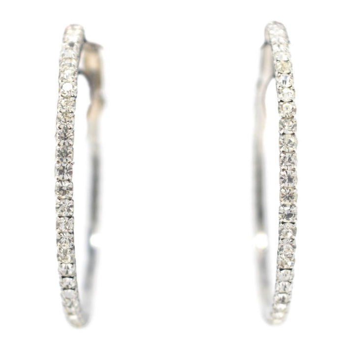 White American Diamond Earring Front