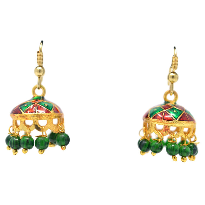Red &Green Jhumki Front View