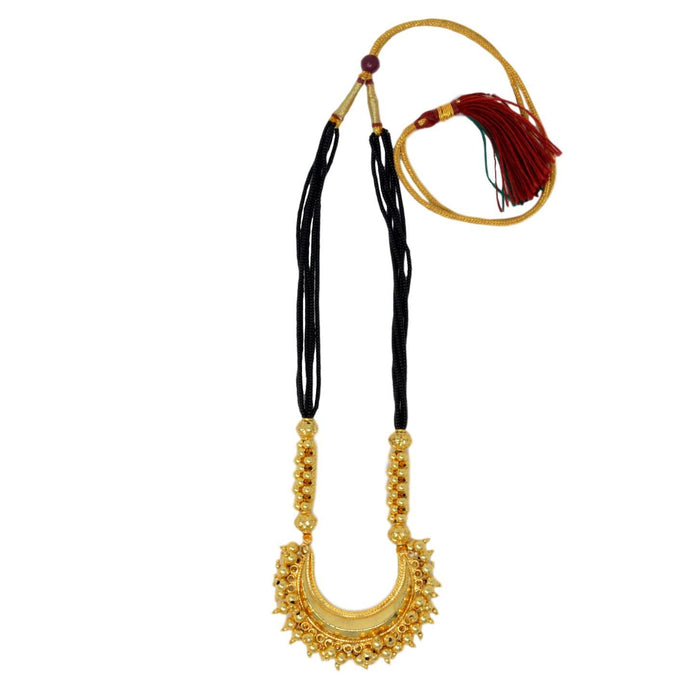 Chandrakor Black Mani Mangalsutra Top View