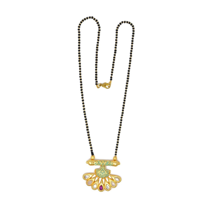 Kundan Mangalsutra Necklace Top View