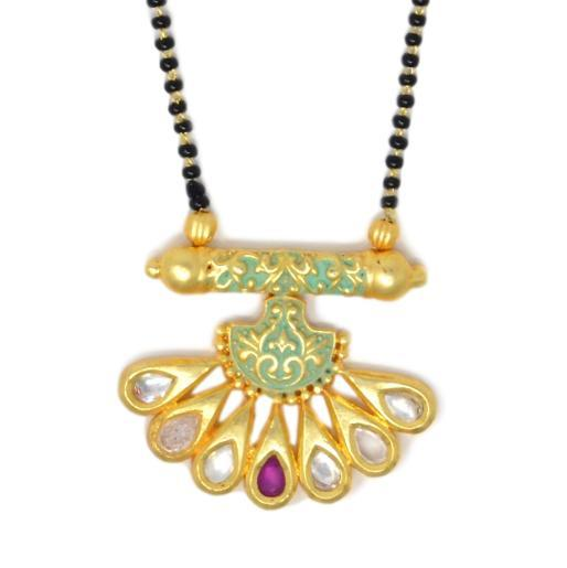 Kundan Mangalsutra Necklace Closeup