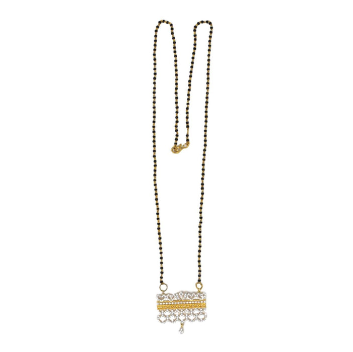 White American Diamond Mangalsutra Top View