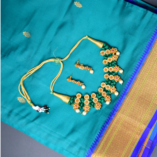 Temple & Green Jardosi Necklace