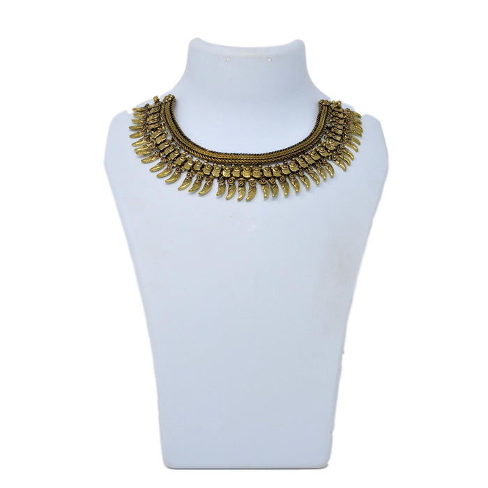 Gold Oxidised Necklace On Mannequin