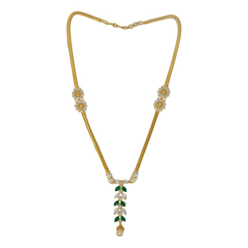 Moti, Green Stone Necklace Set Top View