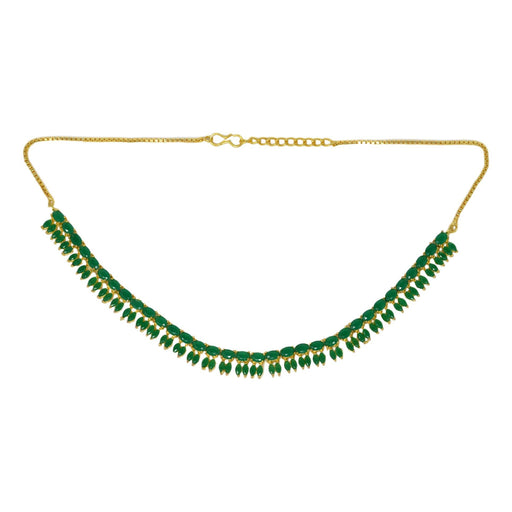 Green Stone Necklace Set Top View