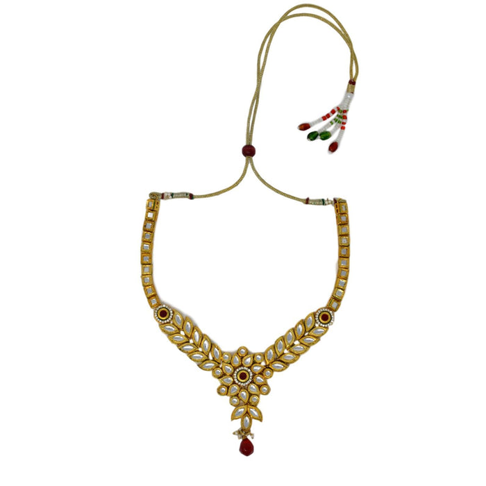 Kundan Necklace Top View