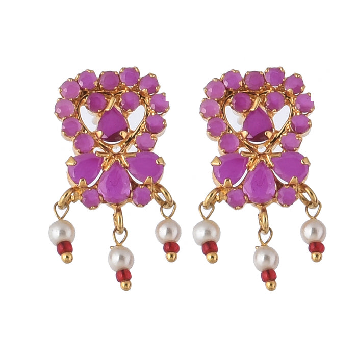 Moti & Red Stone Earring