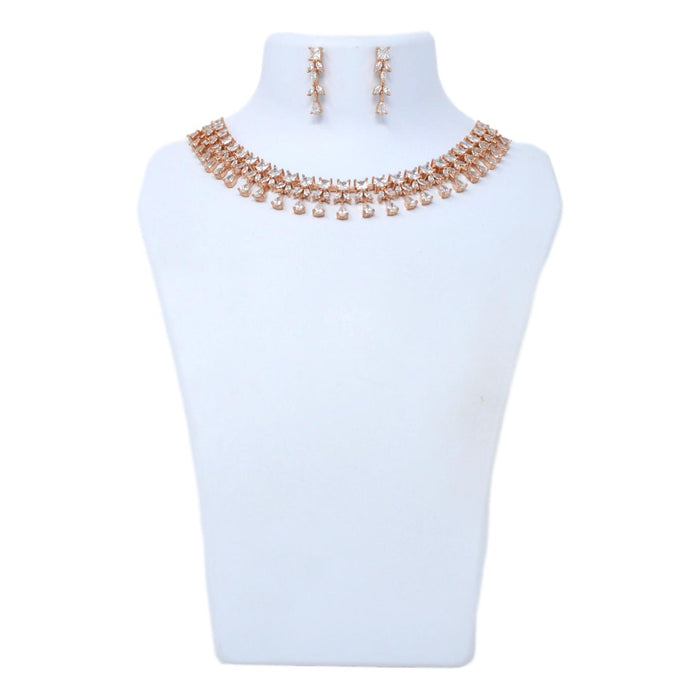 American Diamond Stone Necklace