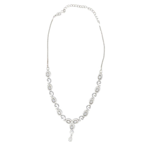 White American Diamond  Necklace Top