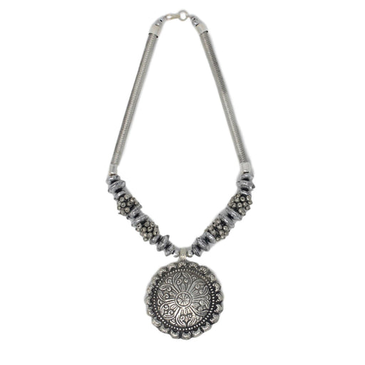Oxidised Necklace Top View