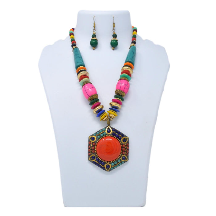 Colorful Beads Necklace On Mannequin
