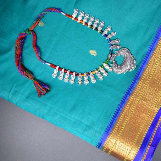 Colourful Dhaga Oxidised Necklace
