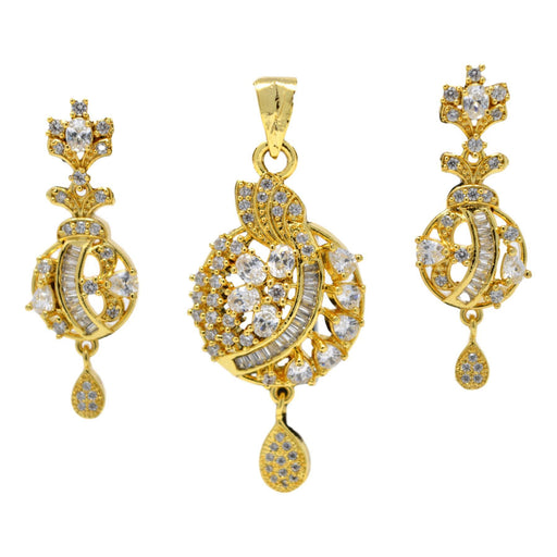 American Diamond Pendant Set Full Set