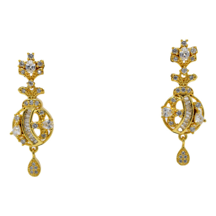 American Diamond Pendant Set Earrings