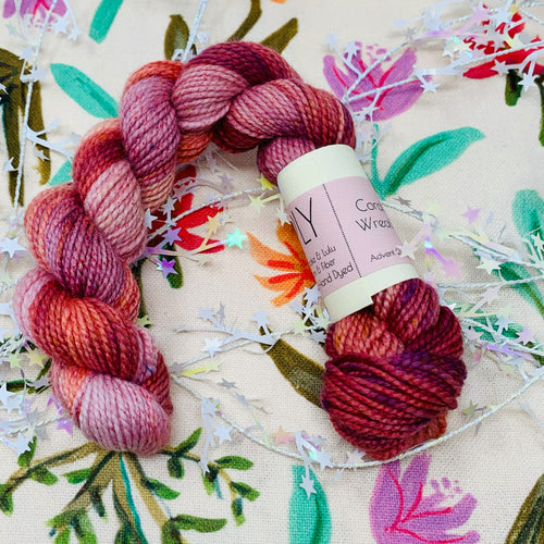 Coral Wreath (Day 21) - Pre-Order for Advent Re-Dye Series closes 1/31/21