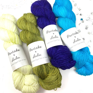 Deep Peri Yarn Kit for Caladenia MKAL Shawl by Ambah O'Brien