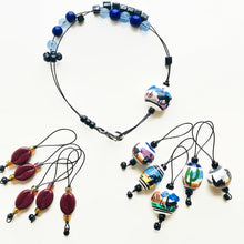 Load image into Gallery viewer, COFFEE AND LLAMAS knitting stitch markers and row counter bracelet