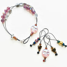 Load image into Gallery viewer, SHIMMER MOON knitting stitch markers and row counter bracelet
