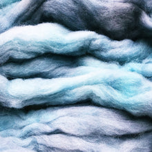 Load image into Gallery viewer, BLUEFIN hand dyed merino wool roving