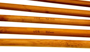 Knitting Needles - Carbonized Bamboo