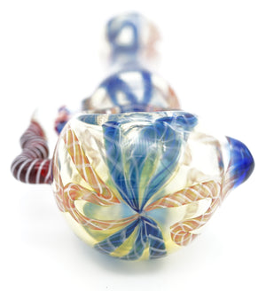 Blue Flower Pipe 5""
