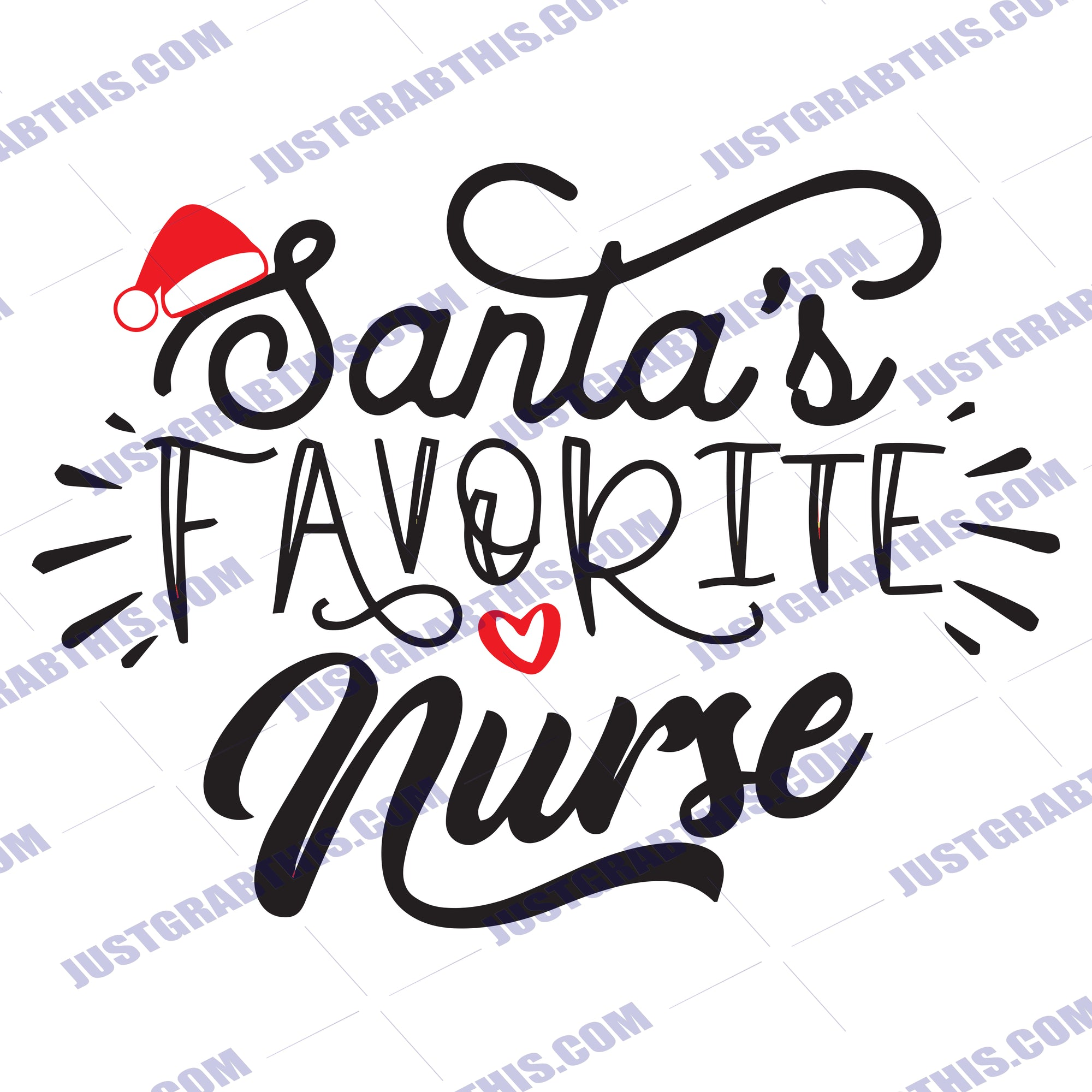 Santa S Favorite Nurse Svg Files For Silhouette Files For Cricut Svg Just Grab This