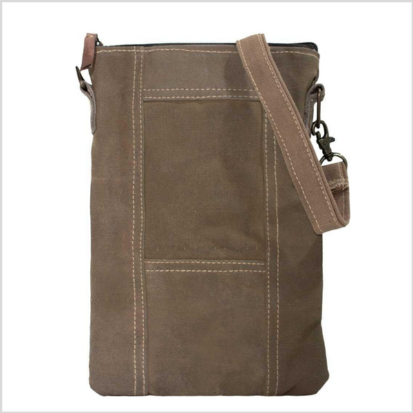 Recycled Tent Crossbody Bag - Earthtones