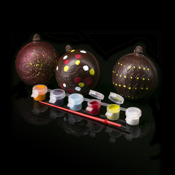 Dark Chocolate Ornament Kit with Colored Cocoa Butter