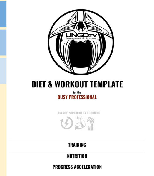 Diet & Workout Template: For The Busy Professional