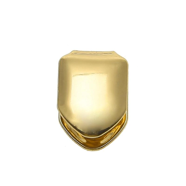 HMerch™ Gouden tand - Opzet tand - Grill - Overschuif tand  - One size fits all - Nep gouden tand - Carnaval - Feestje - Gouden tand op maat - Grill tanden - Gouden tanden - Gouden hoektand