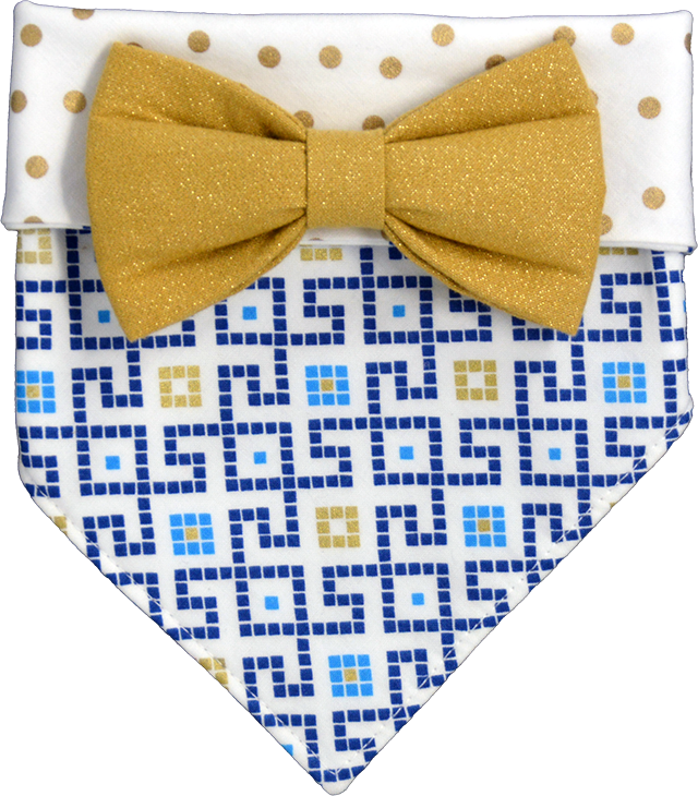 Blocks n Dots Bandana & Bow Set