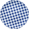 Blue Gingham Melamine Serving Platter 16""