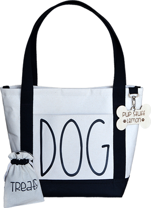 D-O-G Tote with Plaid