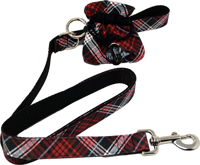 Pup Love Leash, Collar & Poo Bag Dispenser Set