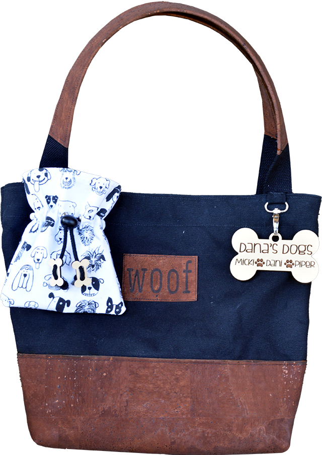 Pup Love Dog Tote in Cork