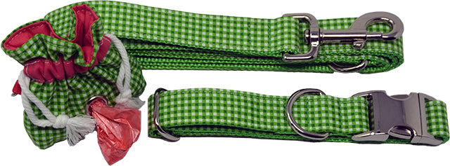 Watermelon Leash, Collar & Poo Bag Pouch Set