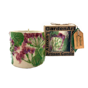 Potted Geranium Luxury Candle