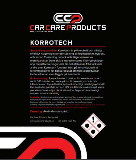 Car Care Products Korrotech 5 Liter