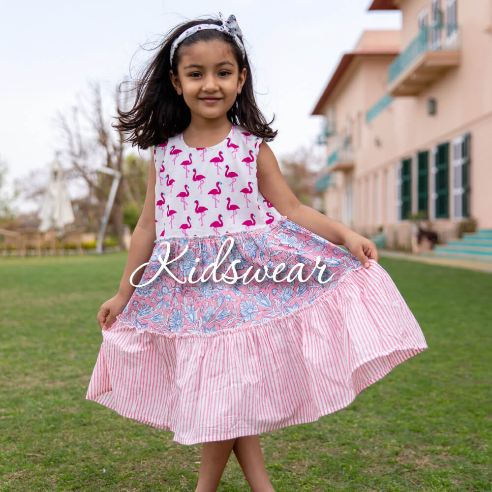 Organic Cotton Kids Summer Clothing - Pinklay
